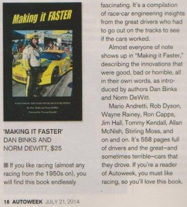 Autoweek review of book